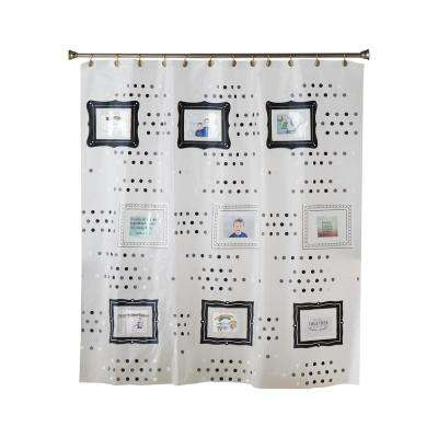 Pocketz 72 in. Black Shower Curtain