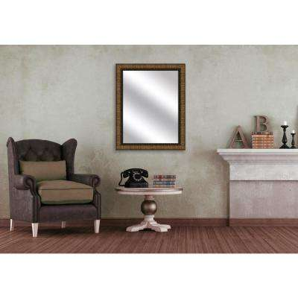 51.5 in. x 31.5 in. Dark Gold Framed Mirror