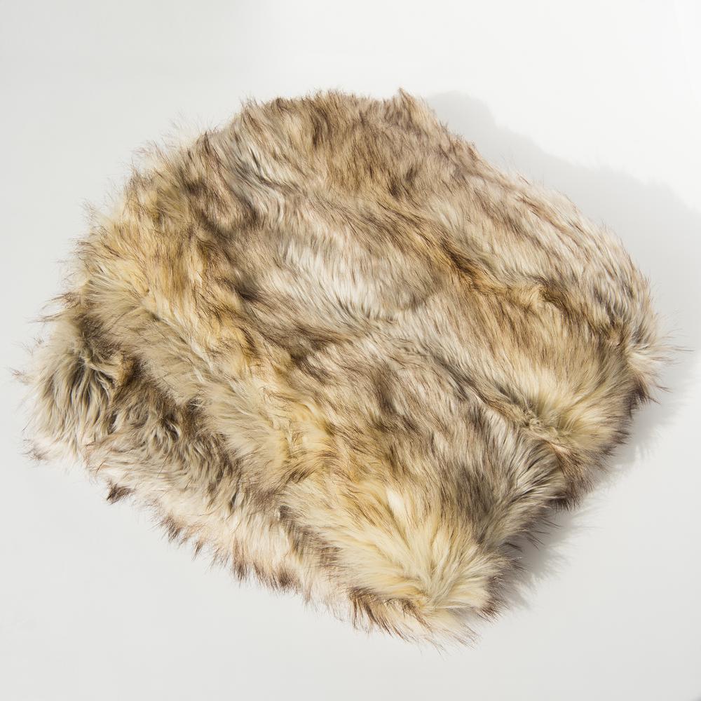 Kitt Fox Faux Fur Throw 58 in. x 60 In.