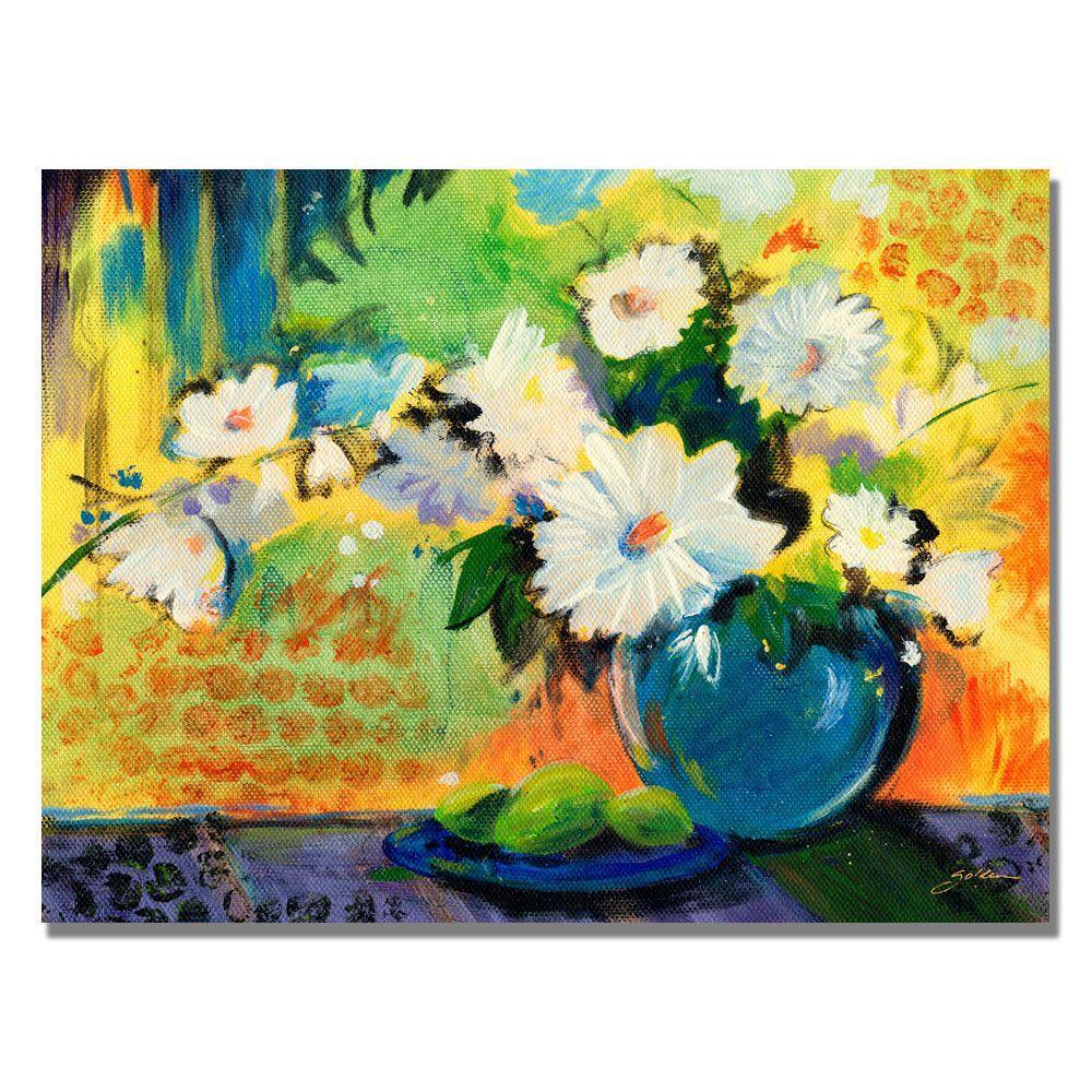 Trademark Fine Art 35 in. x 47 in. Yellow Wall Canvas Art