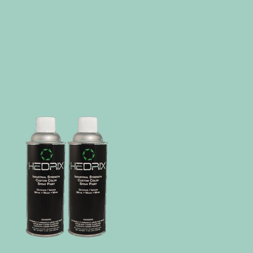 Hedrix 11 oz. Match of 500D-4 Jamaica Bay Semi-Gloss Custom Spray Paint (2-Pack)