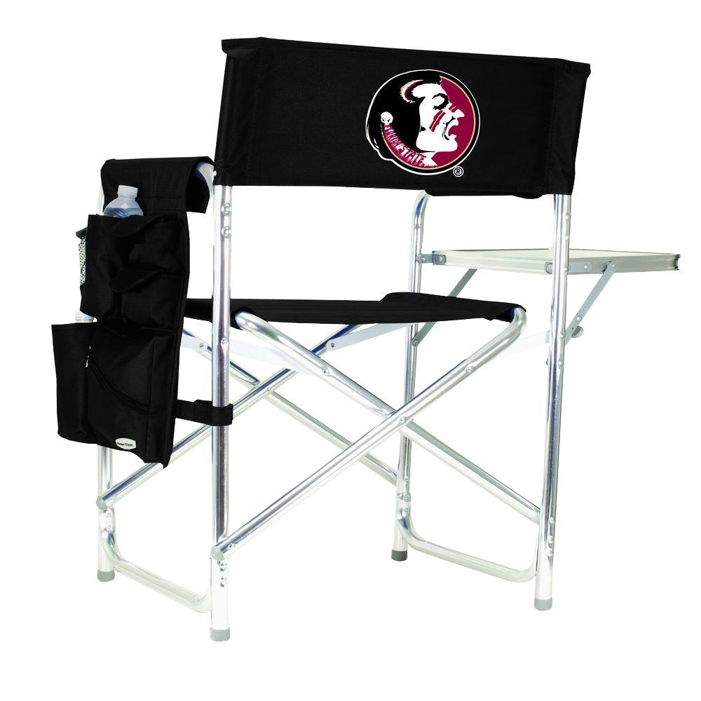 Florida State University Black Sports Chair with Digital Logo