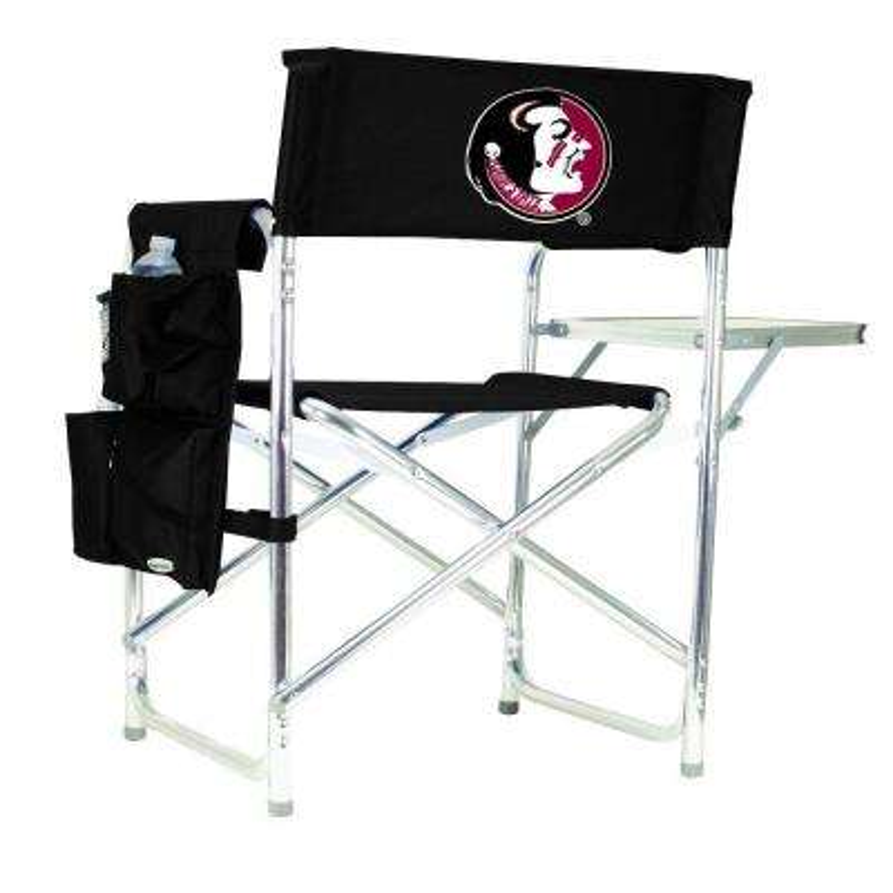 Florida State University Black Sports Chair with Digital Logo