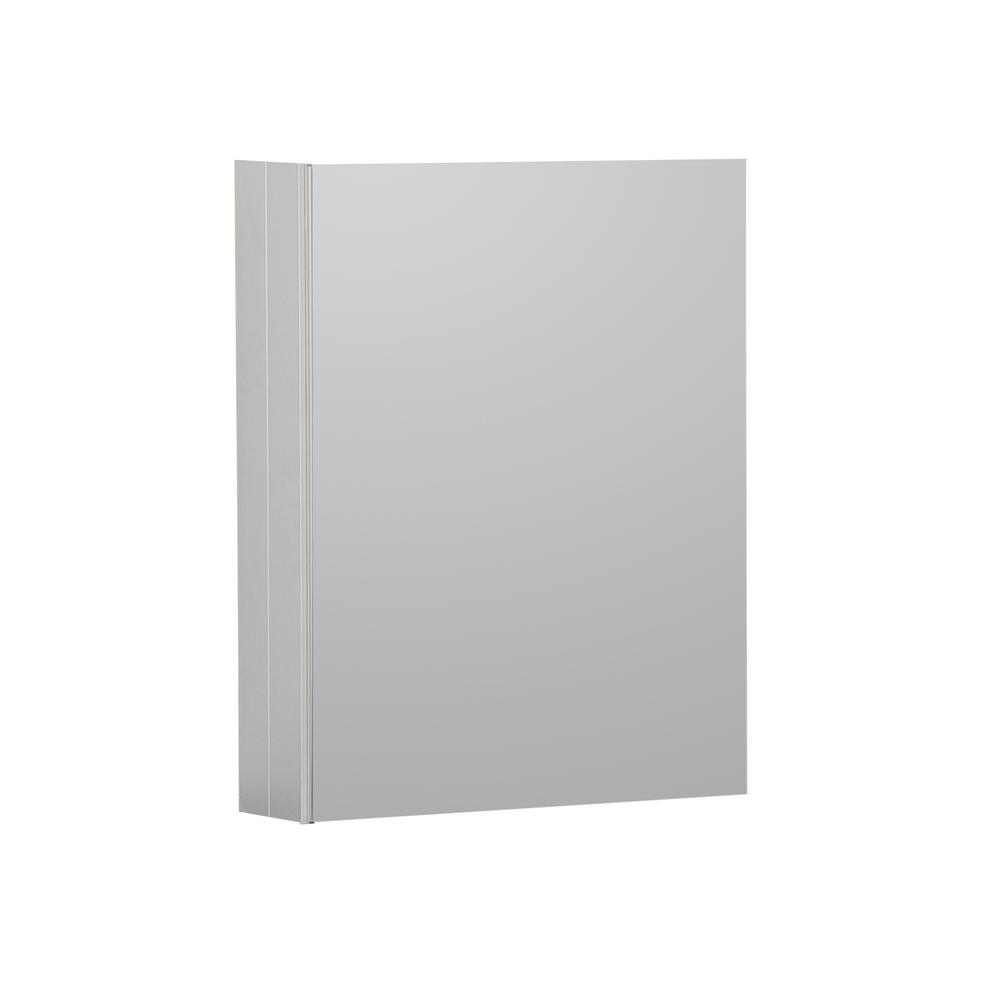Boyel Living 16 in. x 20 in. Recessed or Surface Frameless 1-Door Medicine Cabinet with 2-Adjustable Shelves