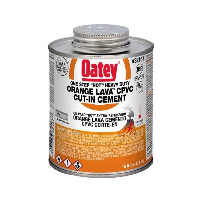 Orange Lava 16 oz. Heavy-Duty Orange CPVC Pipe Cement