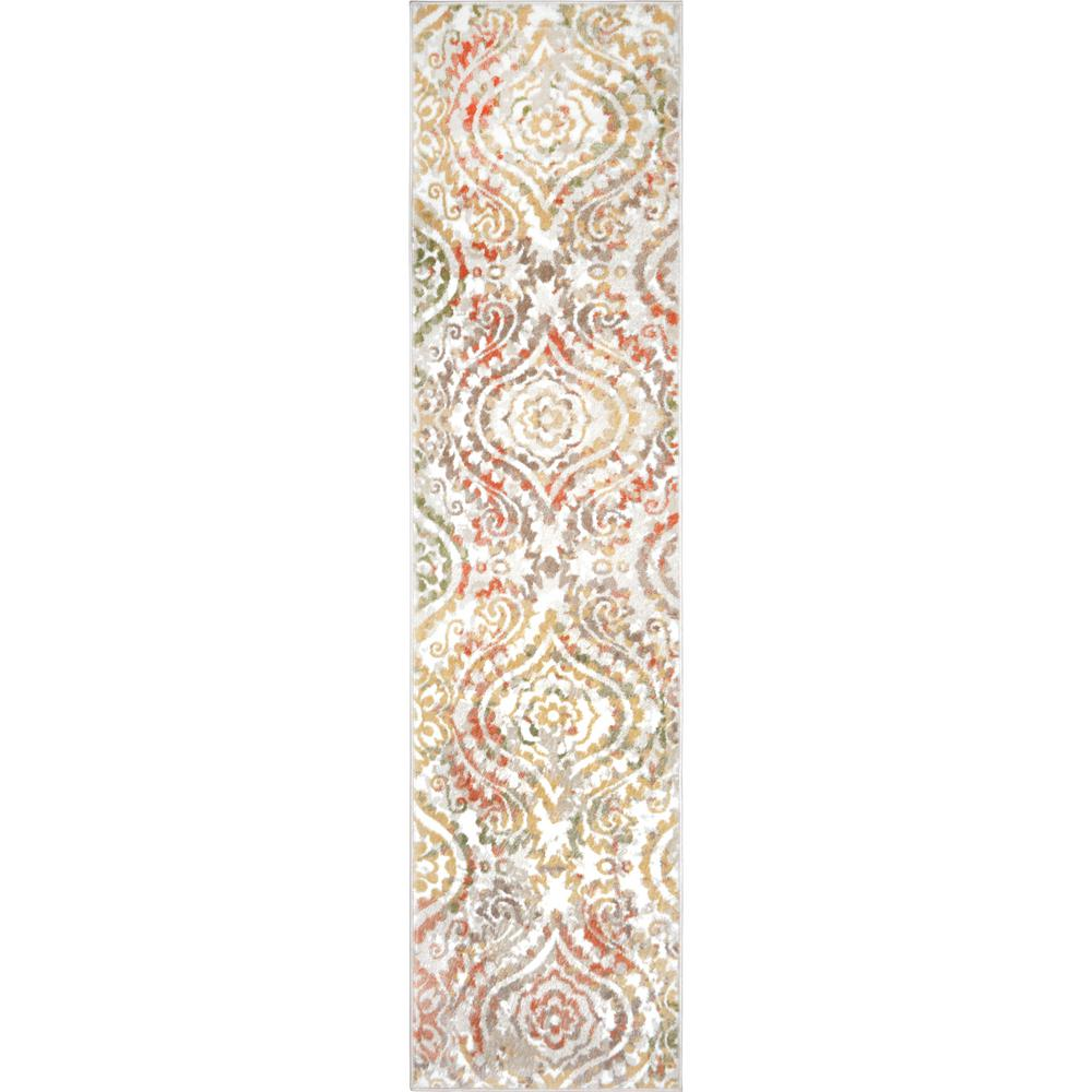 Ottomanson Solid Design Beige 1 Ft. 8 In. X 4 Ft. 11 In