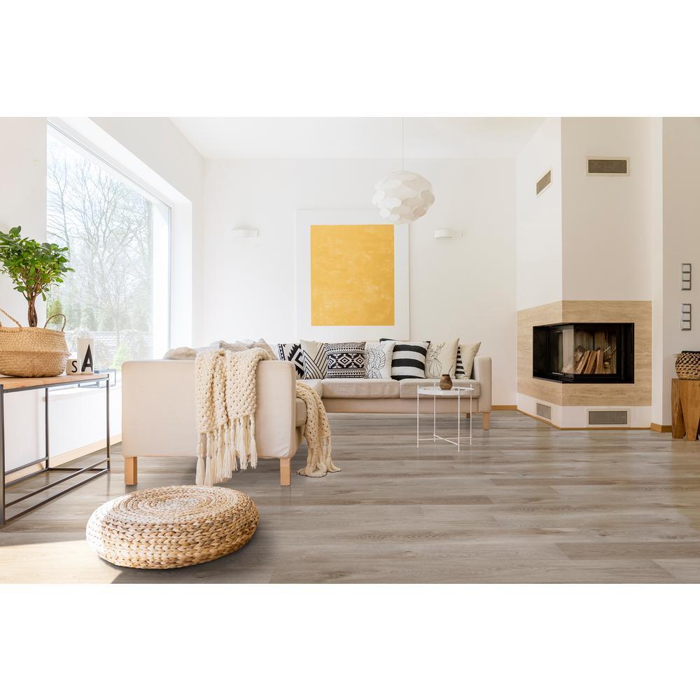 Bay Village Oak 7.64 in. x 42.56 in. Rigid Core Luxury Vinyl Plank Flooring (20.8 sq. ft./case)