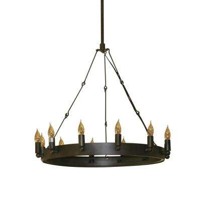 Verdun 12-Light Oil-Rubbed Bronze Chandelier