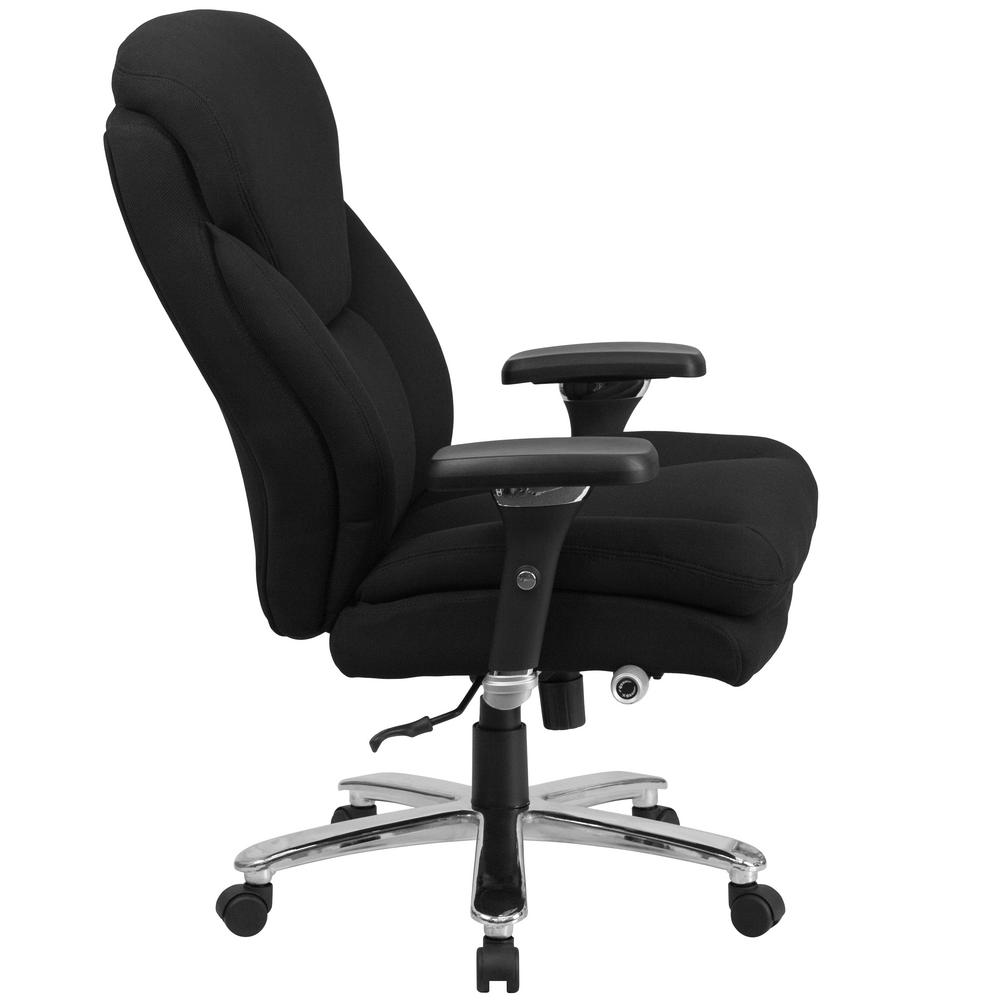 Carnegy Avenue Black Fabric Metal Office/Desk Chair