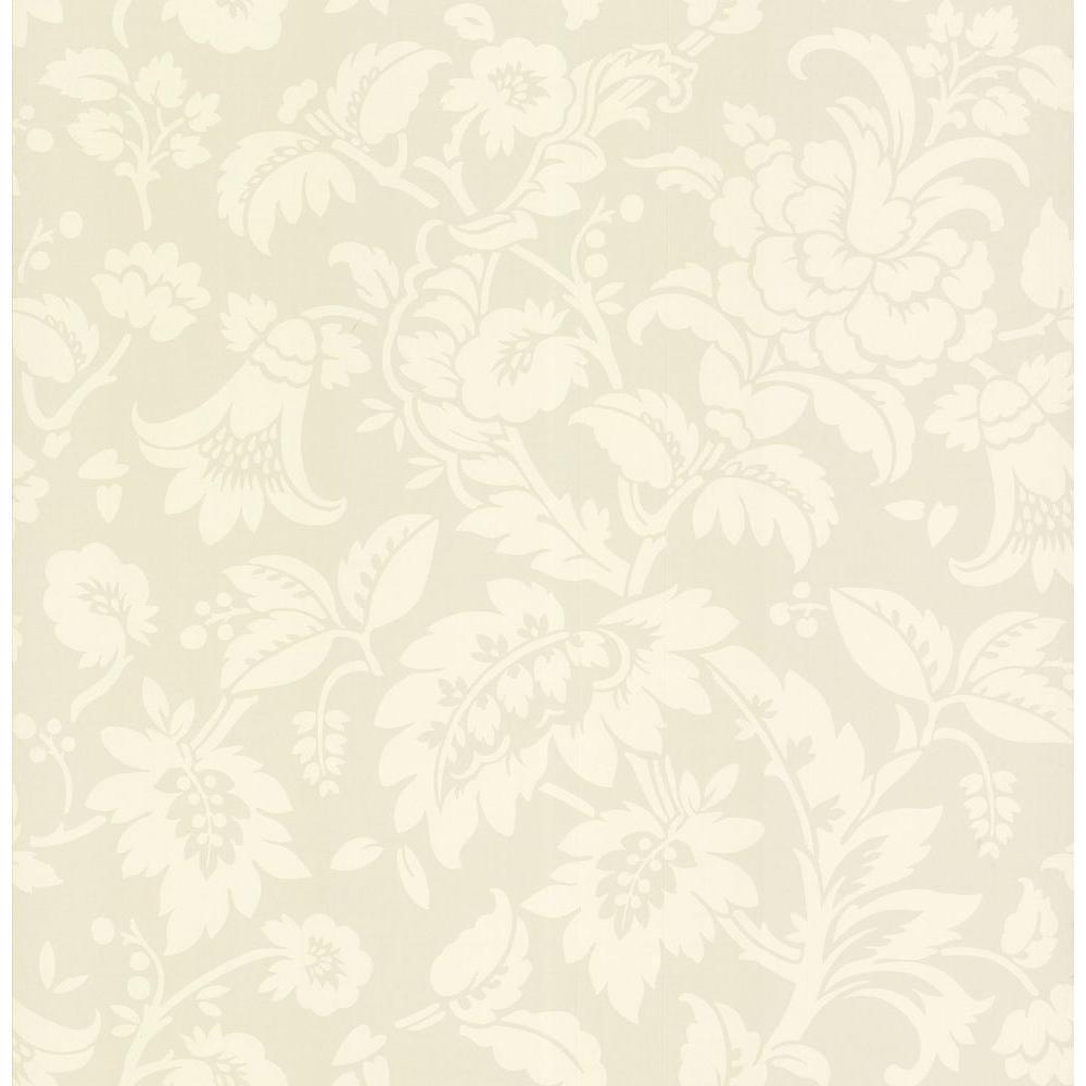Brewster 56 sq. ft. Tonal Floral Wallpaper