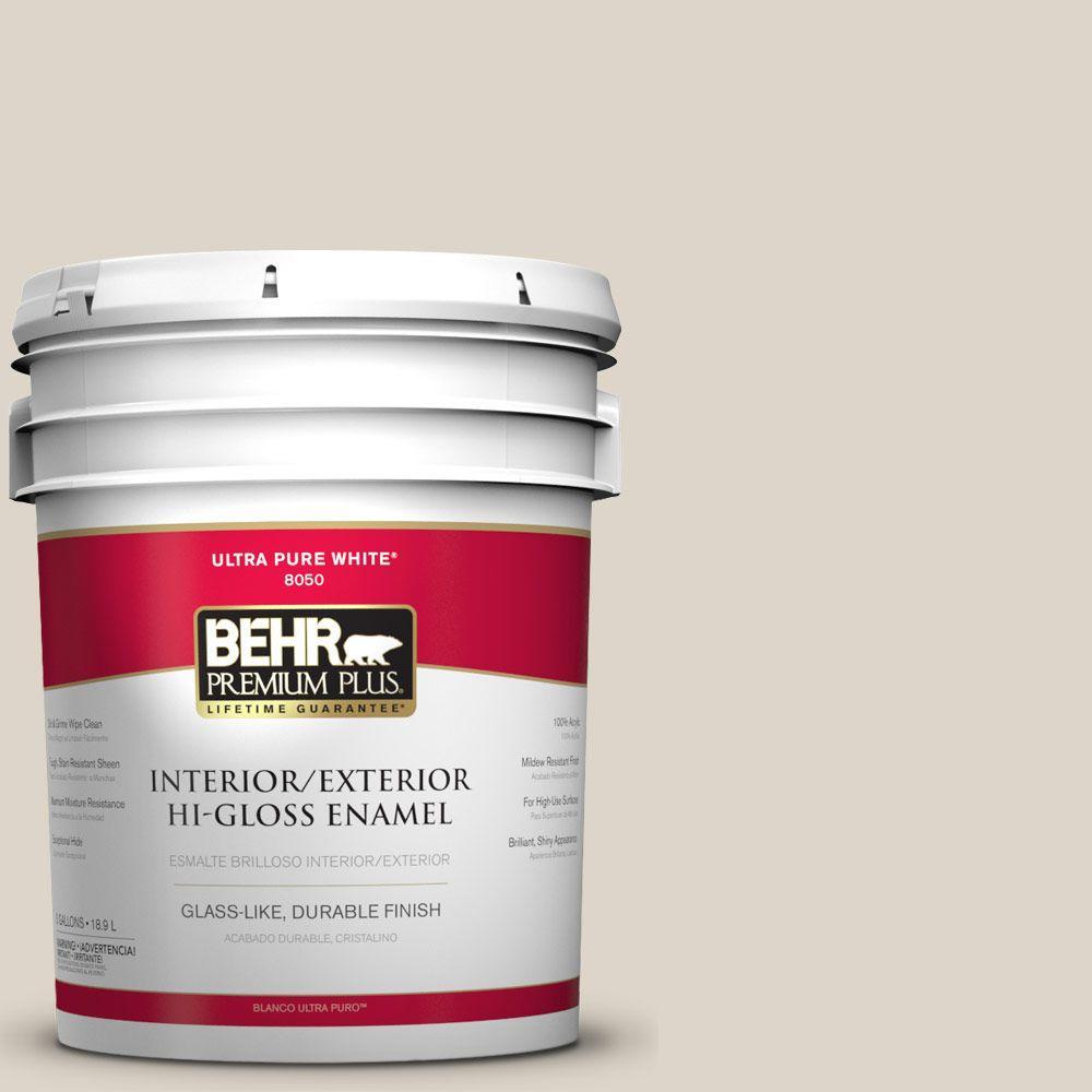 BEHR Premium Plus 5-gal. #N330-2 Prairie Dust Hi-Gloss Enamel Interior/Exterior Paint