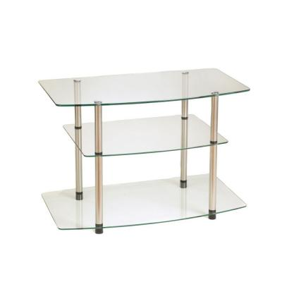 Designs2Go Classic Glass Shelved Entertainment Center