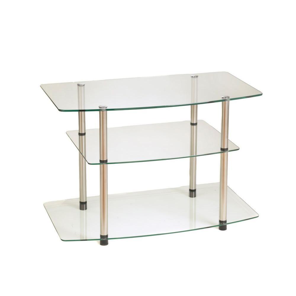 Designs2Go Classic Glass Shelved Entertainment Center