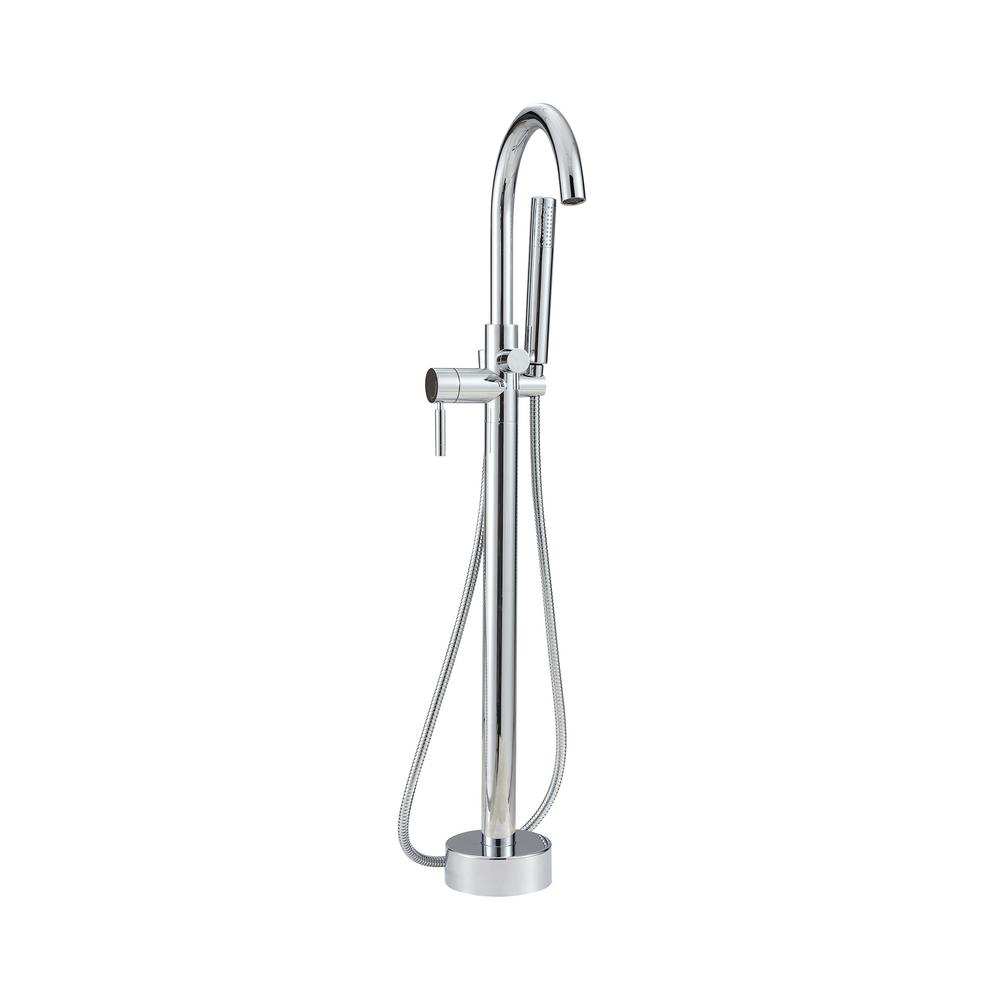 Cahaba Caylin Single-Handle Freestanding Tub Faucet with Handshower in Polished Chrome
