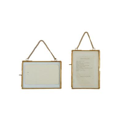 Gold Brass Picture Frames (Set of 2)