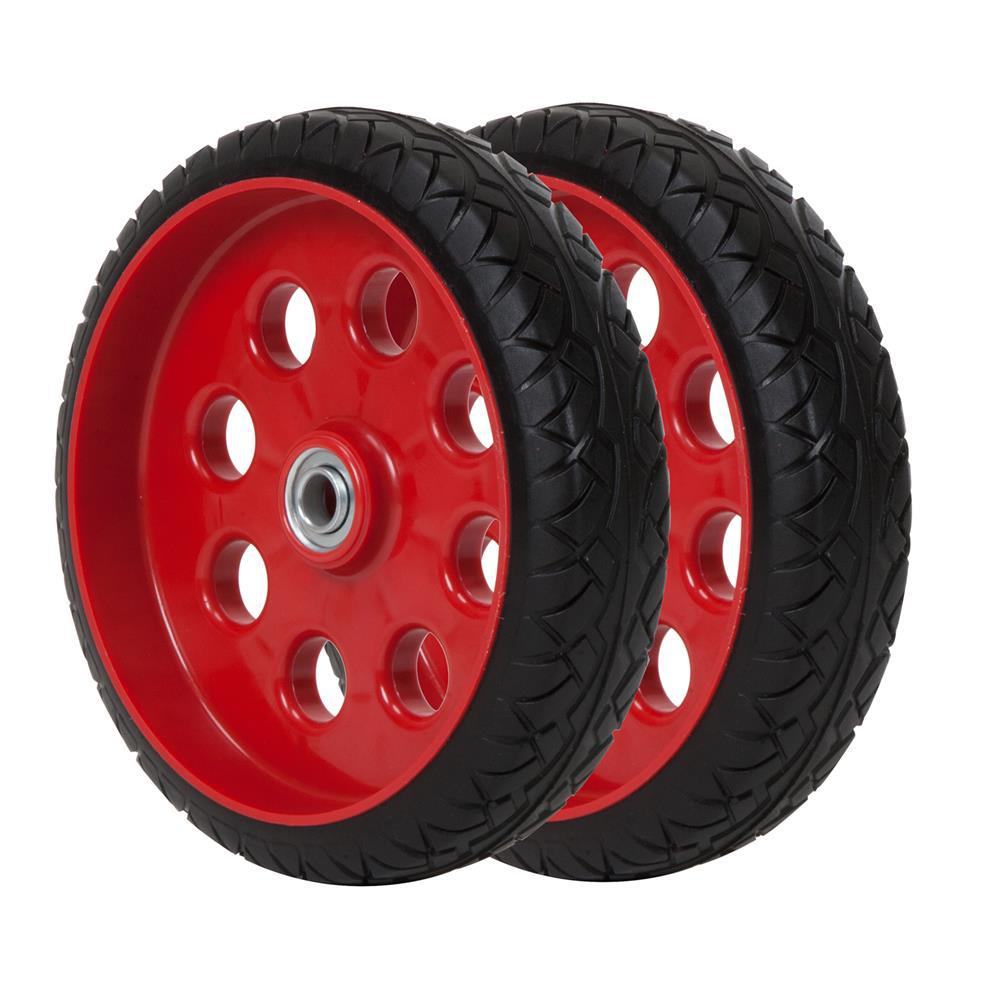 Cosco 10 in. x 2.5 in. Flat-Free Replacement Wheels for Hand Trucks (2-Pack)