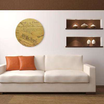 """""""We The People"""" Circular Gold Canvas Giclee Printed on 2"""" Wood Stretcher Wall Art"""