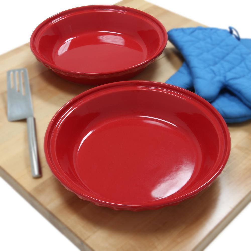 +4. Chantal ... & Chantal Deep 9.5 in. True Red Round Ceramic Pie Dish (2-Pack)-93 ...