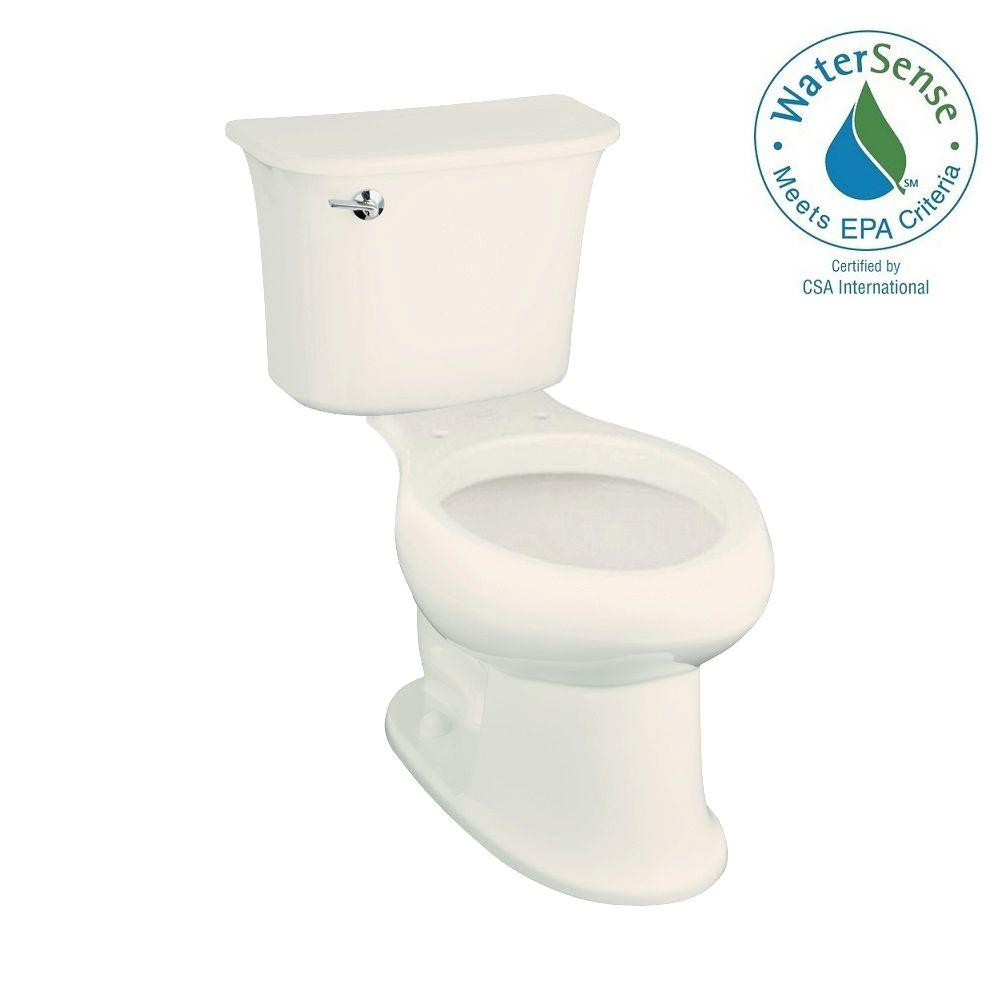 STERLING Stinson 2-piece 1.28 GPF Single Flush Elongated Toilet in Biscuit