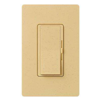 Diva Magnetic Low Voltage Dimmer, 450-Watt, Single-Pole or 3-Way, Goldstone