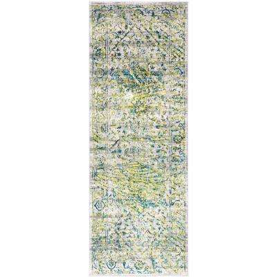 Everest Green 2 ft. 7 in. x 7 ft. 3 in. Oriental Runner Rug