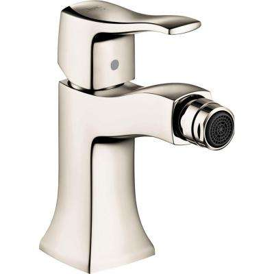 Metris C Single-Handle Bidet Faucet with Handle in Polished Nickel