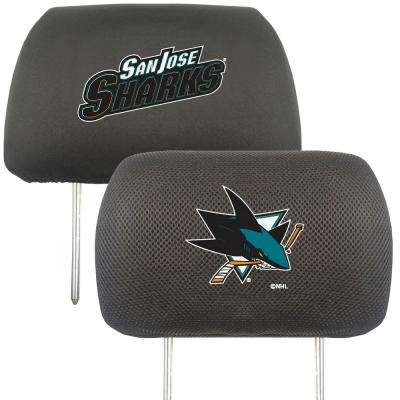 NHL - San Jose Sharks Embroidered Head Rest Covers (2-Pack)