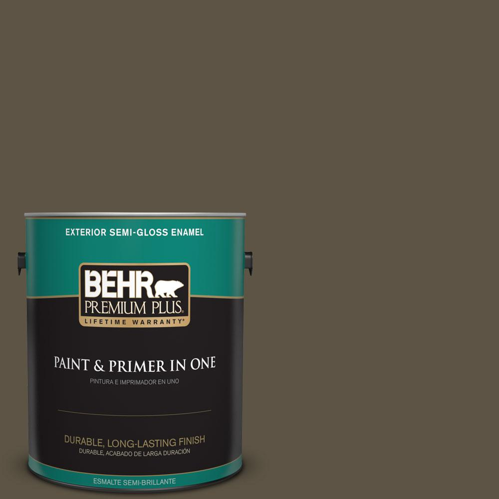 BEHR Premium Plus 1-gal. #770D-7 Wanderer Semi-Gloss Enamel Exterior Paint
