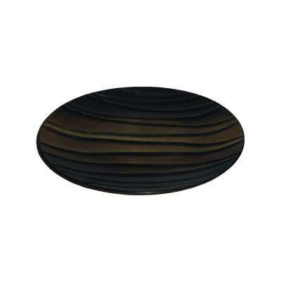 Ceramic Decorative Plate in Brown