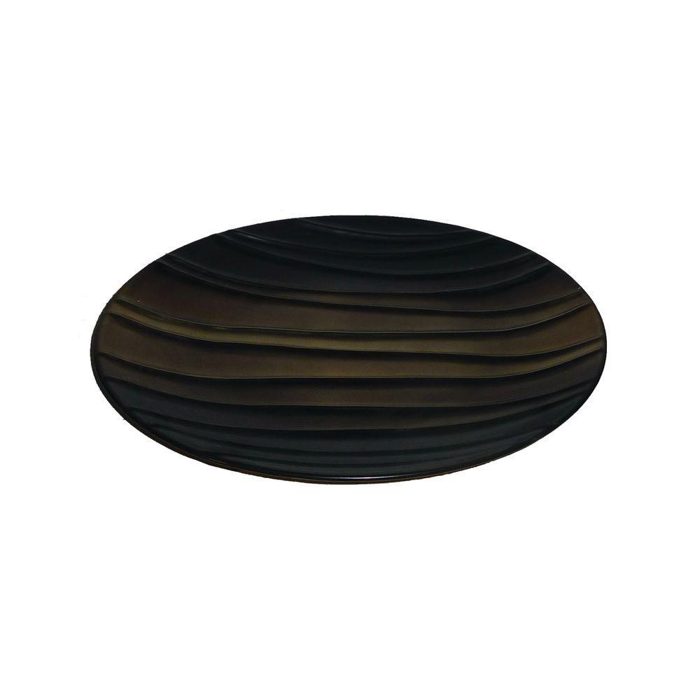 Ceramic Decorative Plate in Brown