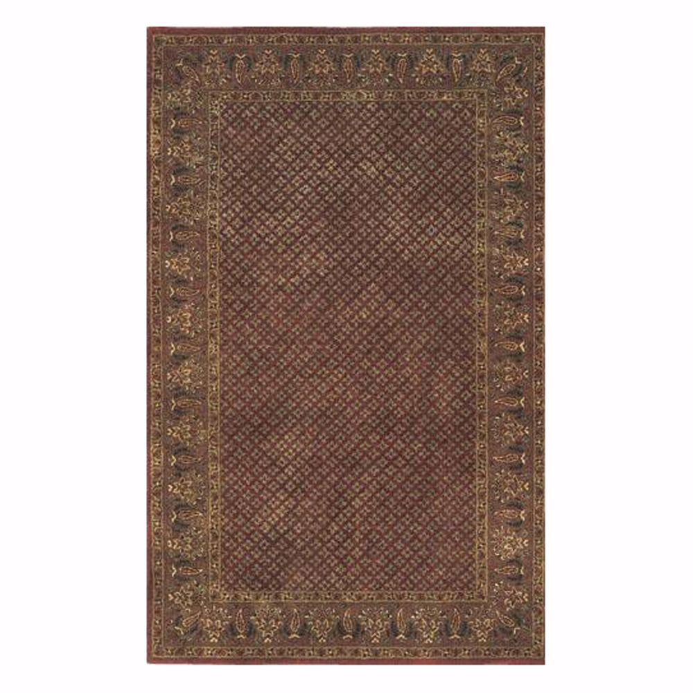 Home decorators collection lichi rust 8 ft x 11 ft area for International home decor rugs