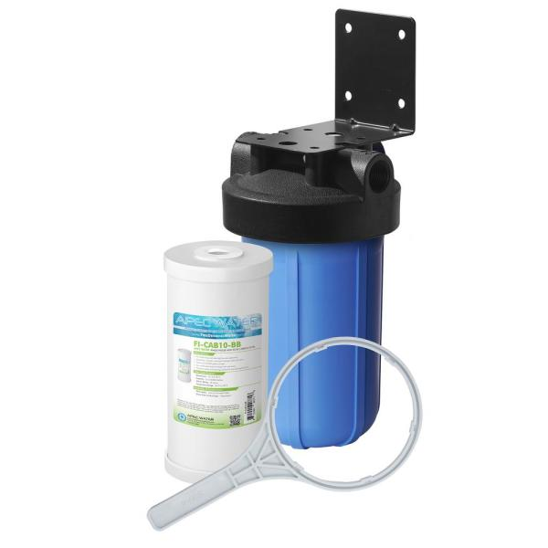 All Purpose 1-Stage Whole House Water Filtration System With 4.5 x 10 in. High Capacity Carbon Filter