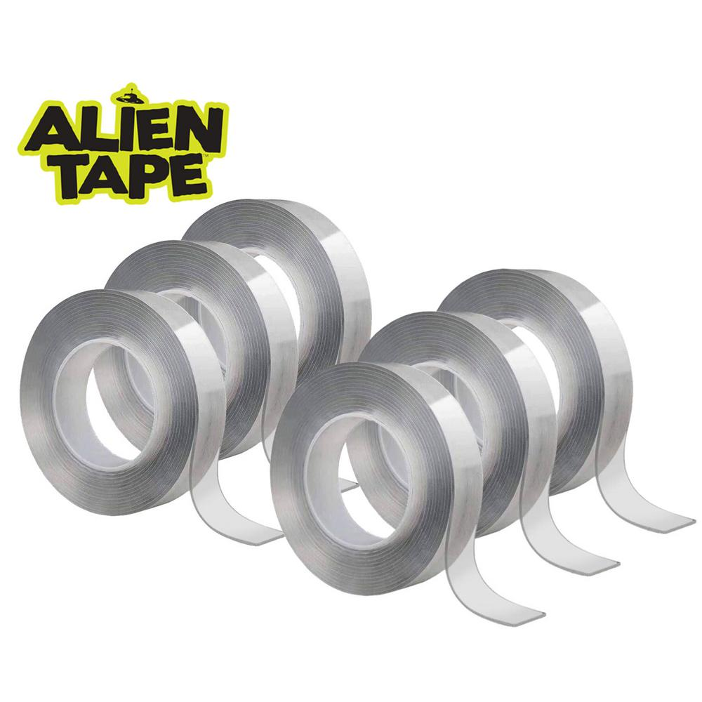 As Seen on TV Alien Tape 7 ft. Multi-Functional Reusable Double-Sided Tape (6-Pack)