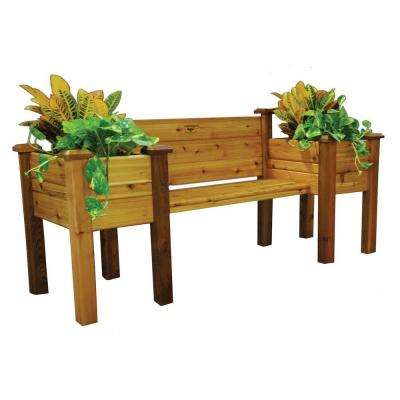82 in. W x 24 in. H Safe Cedar Bench Planter