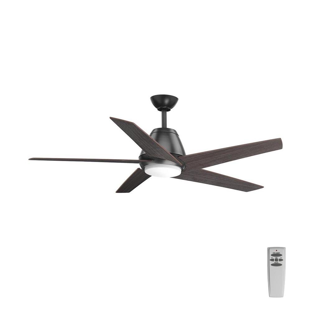 Hunter Isleworth 54 Onyx Bengal Ceiling Fan With Light At: Hunter Donegan 52 In. LED Low Profile Indoor Onyx Bengal