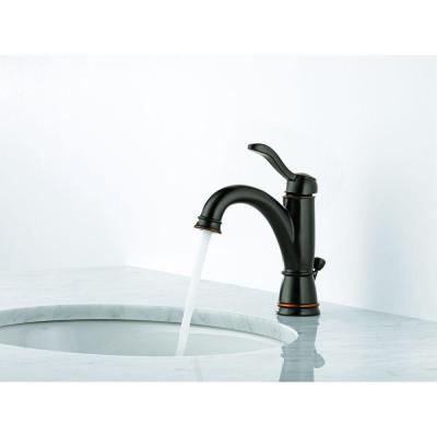 Porter Single Hole Single-Handle Bathroom Faucet in Oil Rubbed Bronze