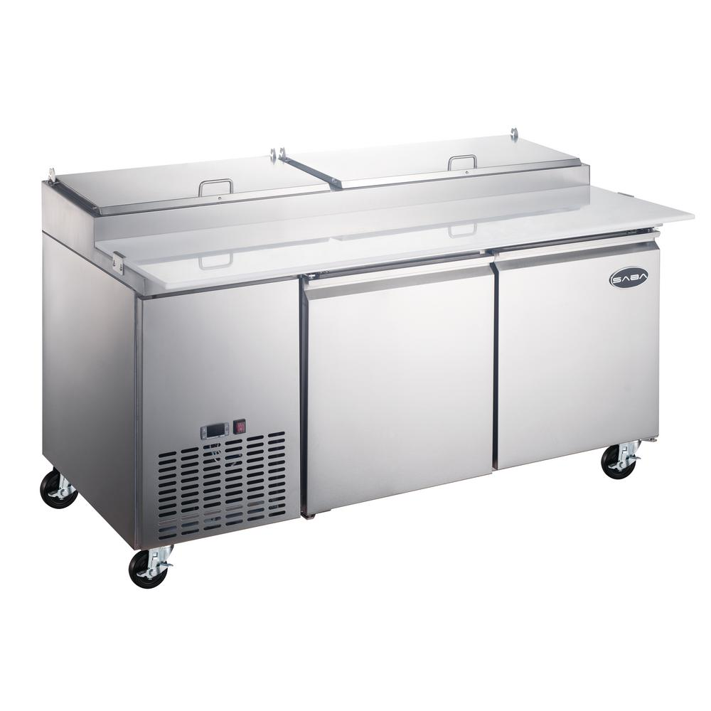 67.25 in. W 16 cu. ft. Commercial Pizza Food Prep Table