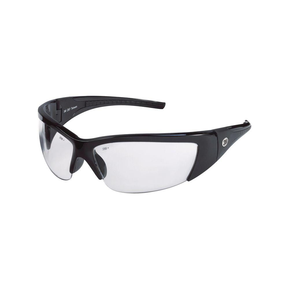 c3305c095b2 3M ForceFlex Black Half Frame with Clear Lenses Safety Glasses-92232 ...