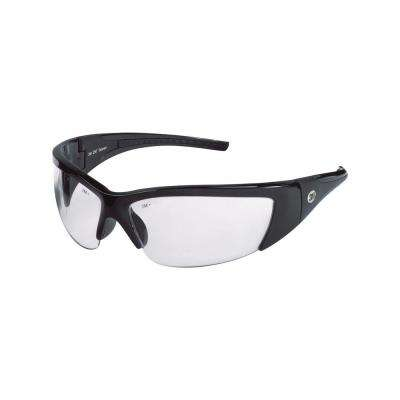 ForceFlex Black Half Frame with Clear Lenses Safety Glasses