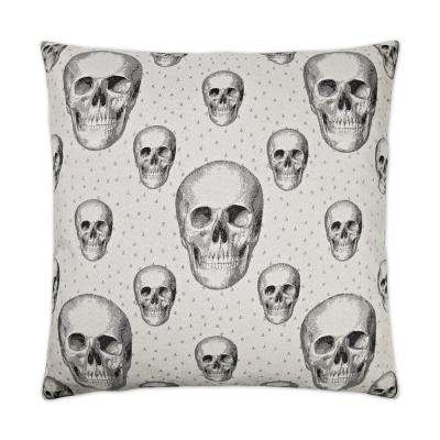 Skalle White Feather Down 24 in. x 24 in. Standard Decorative Throw Pillow