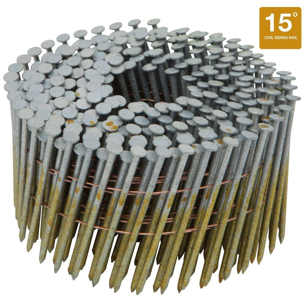 Bostitch 2-1/2 in. x 0.092 Smooth Shank 15-Degree Coil Siding Nails (3600-Pack)