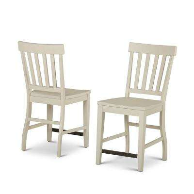 Cayla 42 in. White Counter Chair (Set of 2)