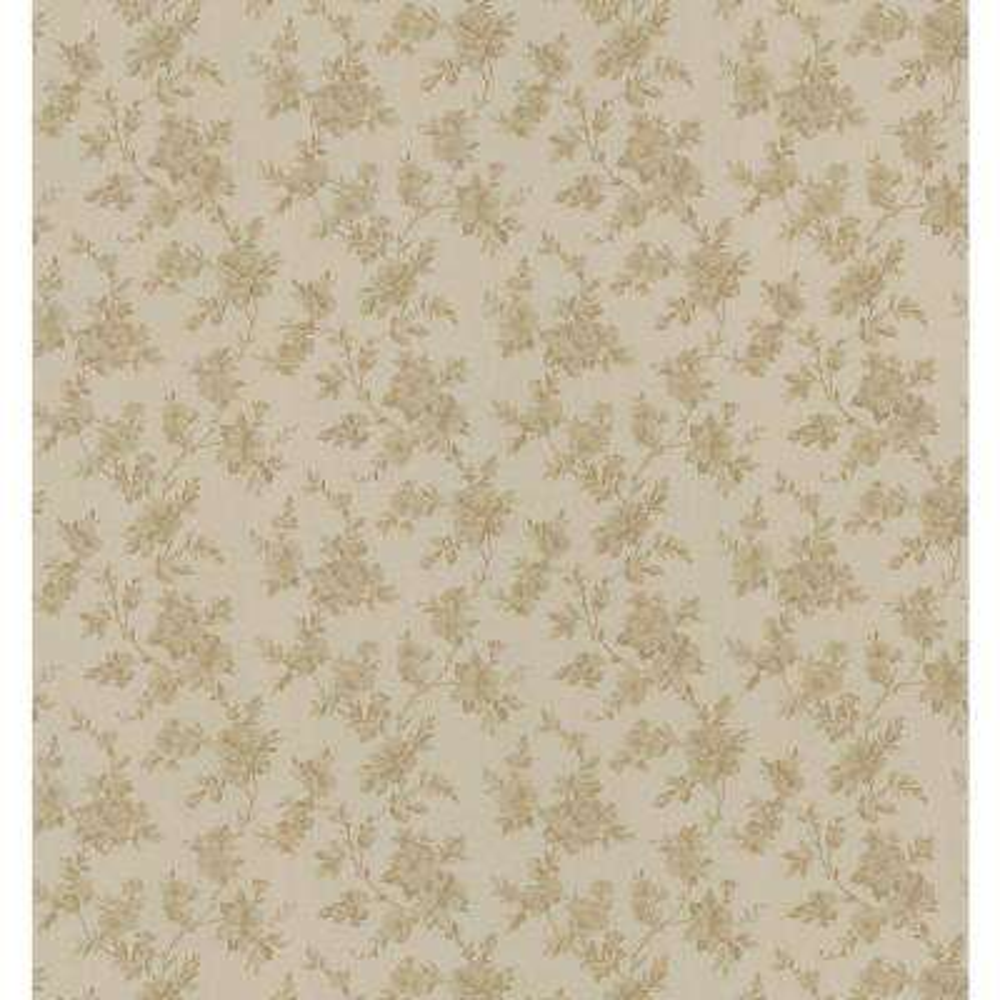 Cameo Rose IV Gold Floral Trail Wallpaper Sample