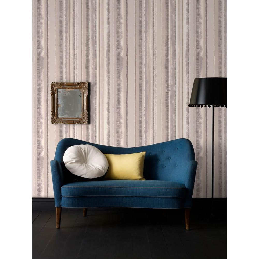 Graham & Brown Romany Stripe Natural Wallpaper