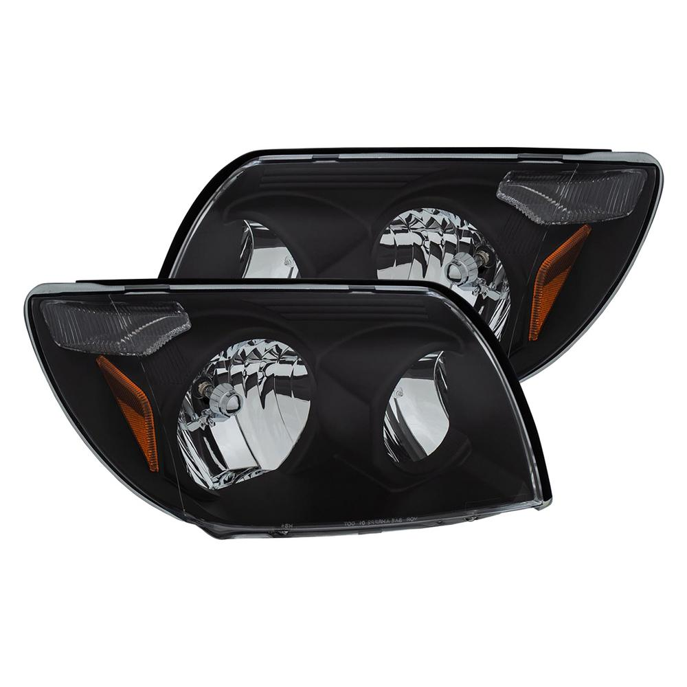 ANZO 2003-2005 Toyota 4Runner Crystal Headlights Black