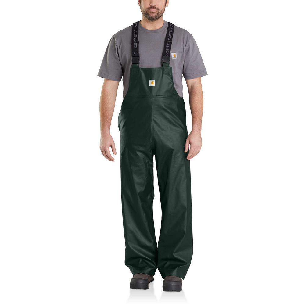 Men's Medium Canopy Green Polyethylene/Polyester Lightweight Waterproof Rain Storm Unlined Bibs