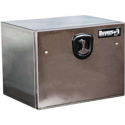 Stainless Steel Underbody Truck Box with Polished Stainless Steel Door (Highly Polished), 18 in. x 18 in. x 24 in.