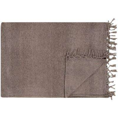 Imogene Gray Cotton Blend Throw