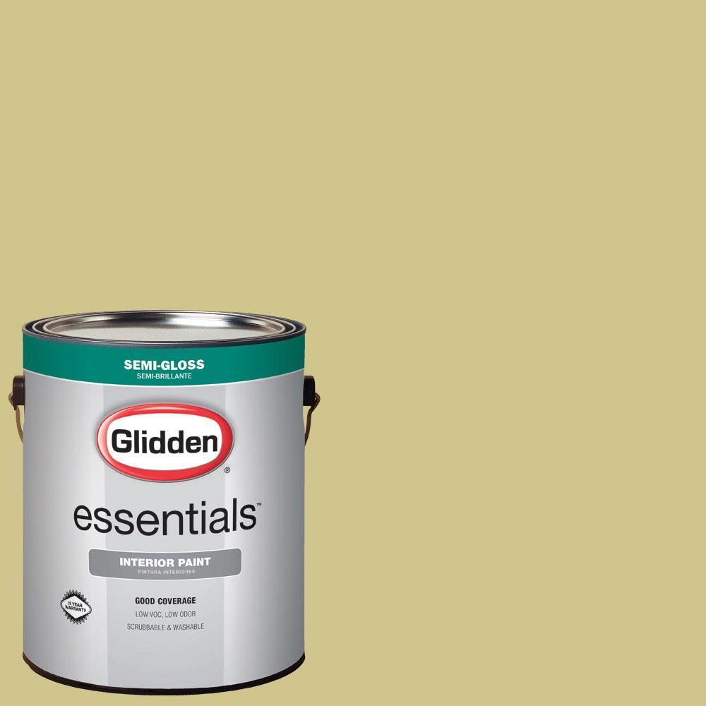 Glidden Essentials 1 Gal Hdgg07 Soothing Green Tea Semi Gloss Interior Paint Hdgg07e 01sn The Home Depot