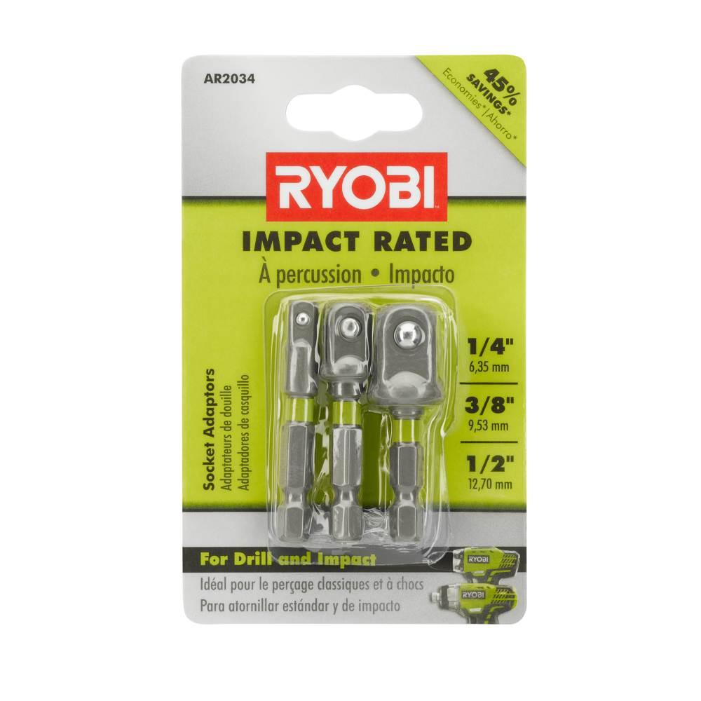 Impact Rated Socket Adaptor Set (3-Piece)